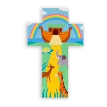 Croix Enfant en bois – L'Arche de Noé